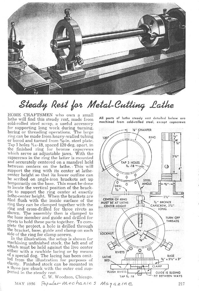 Homemade Steady Rest For Metal Cutting Lathe